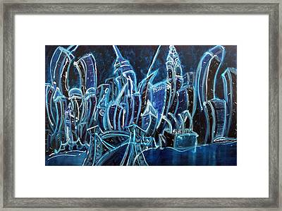 Nyc Jazz Framed Print by Felix Concepcion