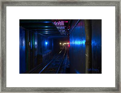 Nyc Underground Colors Framed Print by Coqle Aragrev