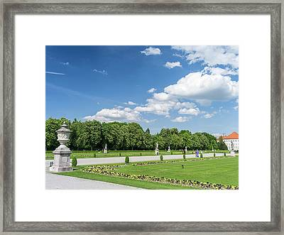 Nymphenburg Palace And Park In Munich Framed Print by Martin Zwick
