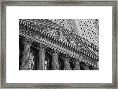Nyse  New York Stock Exchange Wall Street Framed Print by Susan Candelario