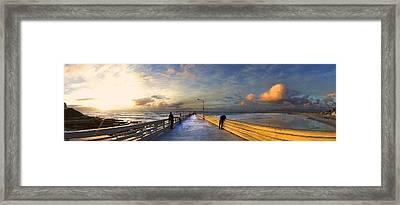 Ocean Beach Pier Framed Print by Kenny Noddin
