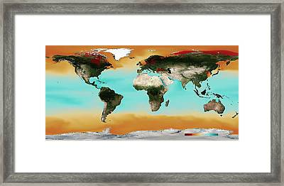 Ocean Carbonate Saturation Framed Print by Noaa