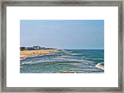 Ocean Front Framed Print by Carolyn Ricks