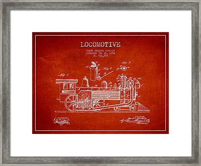 ocomotive Patent drawing from 1894 Framed Print by Aged Pixel