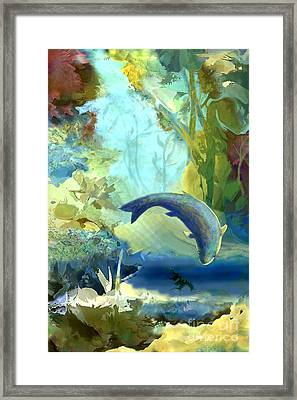 Octopus' Garden 2   Framed Print by Ursula Freer