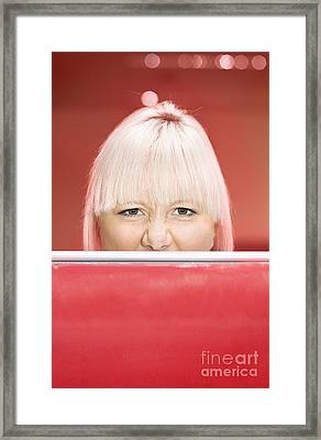 Office Partition Rage Framed Print by Jorgo Photography - Wall Art Gallery
