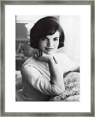 Official Photograph Of Jackie Framed Print by Underwood Archives