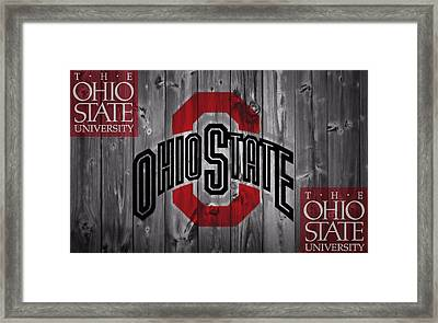 Ohio State Buckeyes Framed Print by Dan Sproul