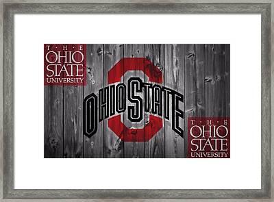 Ohio State Buckeyes Framed Print by Dan Sproul