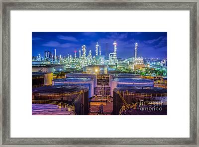 Oil Refinary Industry  Framed Print by Anek Suwannaphoom
