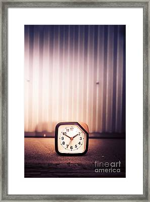 Old Analog Clock Framed Print by Jorgo Photography - Wall Art Gallery