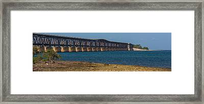 Old Bahia Honda Bridge Framed Print by Ed Gleichman