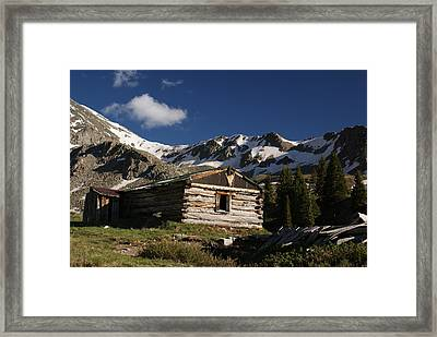 Old Cabin In Rocky Mountains Framed Print by Michael J Bauer
