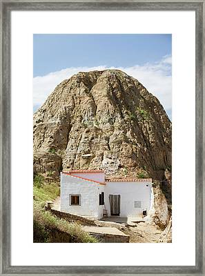 Old Cave Houses In Guadix Framed Print by Ashley Cooper