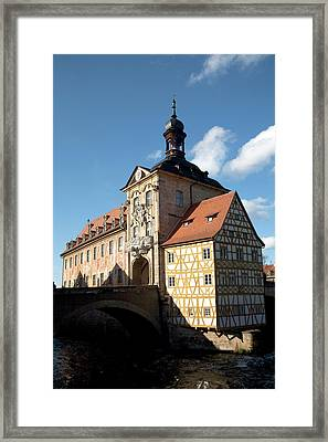 Old City Hall Located Atop The Bridge Framed Print by Dave Bartruff