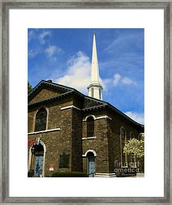 Old Dutch Church Framed Print by Donna Cavanaugh