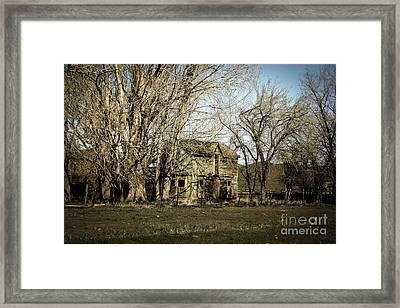 Old Farm House Framed Print by Robert Bales