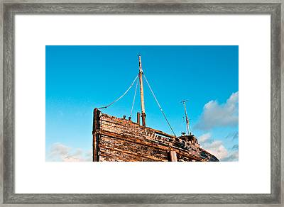 Old Fishing Boat Framed Print by Tom Gowanlock