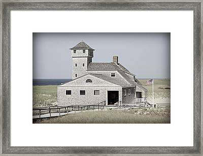 Old Harbor Lifesaving Station -- Cape Cod Framed Print by Stephen Stookey