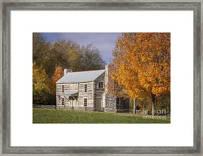 Old Log House Framed Print by Brian Jannsen