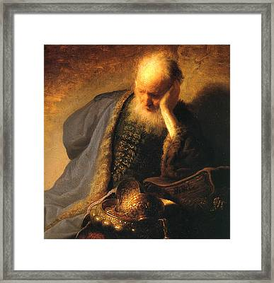 The Old Man Framed Print by Rembrandt