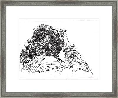 Old Man Framed Print by Ylli Haruni