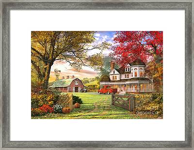Old Pumpkin Farm Framed Print by Dominic Davison