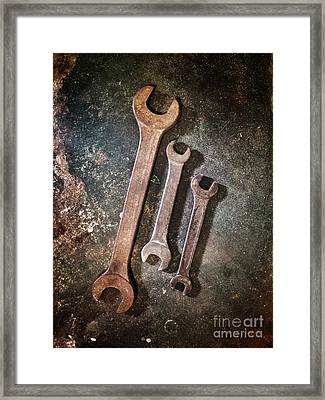 Old Spanners Framed Print by Carlos Caetano