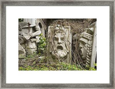 Old Statues In Skopje Framed Print by For Ninety One Days
