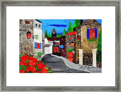 Old Town Evenings Framed Print by Mariana Stauffer