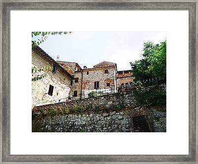 Old Towns Of Tuscany San Gimignano Italy Framed Print by Irina Sztukowski
