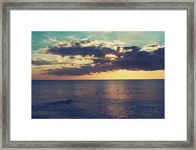 On A Warm Evening Framed Print by Laurie Search