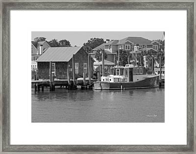 On Shem Creek Framed Print by Suzanne Gaff