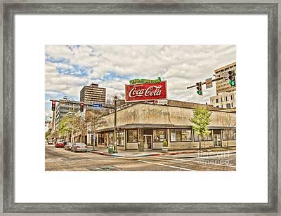 On The Corner Framed Print by Scott Pellegrin