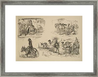 On The Nile - Paris To Marseilles Vignettes Framed Print by Celestial Images