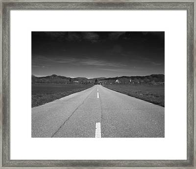 On The Road Framed Print by Marcio Faustino