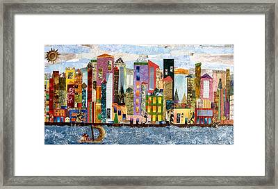 On The Waterfront Framed Print by Barbara Kinnick