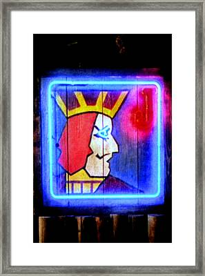 One Eyed Jacks Framed Print by Luis Ludzska