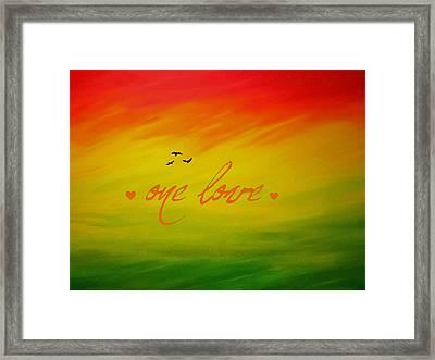 One Love Framed Print by Cyryn Fyrcyd