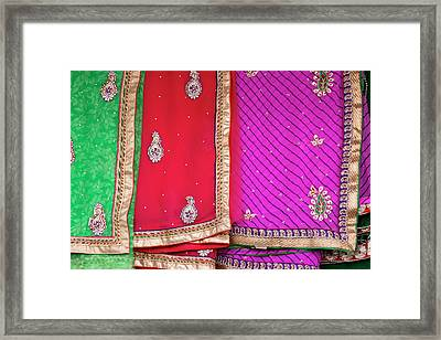 Open Air Market Udaipur Rajasthan India Framed Print by Tom Norring