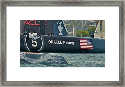 Oracle Racing Framed Print by Steven Lapkin
