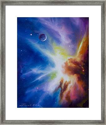 Origin Nebula Framed Print by James Christopher Hill
