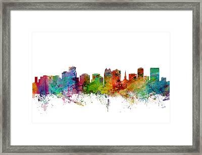 Orlando Florida Skyline Framed Print by Michael Tompsett