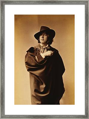 Oscar Wilde Framed Print by Napoleon Sarony