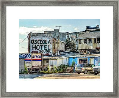 Osceola Hotel Framed Print by MJ Olsen