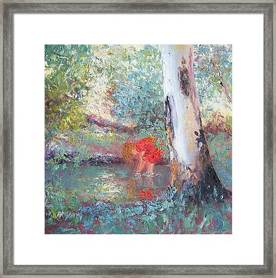 Paddling In The Creek Framed Print by Jan Matson