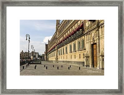 Palacio Nacional, Mexico Framed Print by Rafael Macia