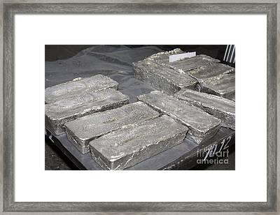 Palladium Bars Framed Print by RIA Novosti