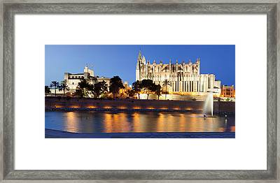 Palma Cathedral La Seu And Almudaina Framed Print by Panoramic Images