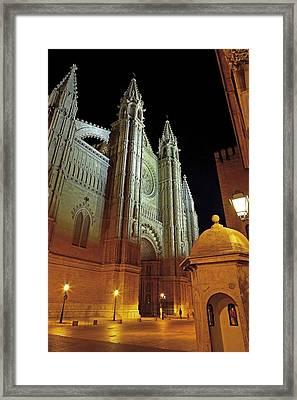 Palma De Majora Cathedral. Ca Framed Print by Everett